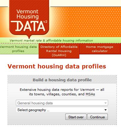 Latest Census Bureau estimates added to Vermont Housing Data website